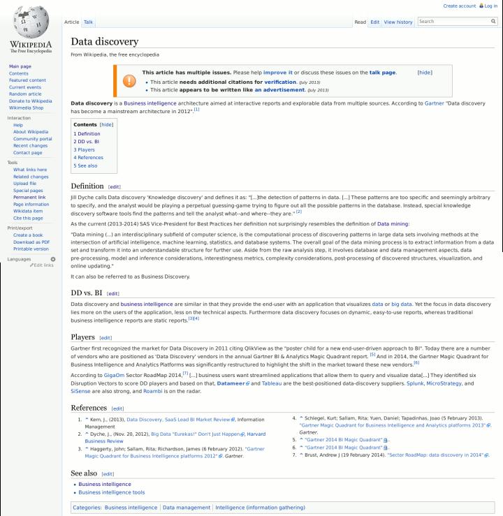 ... e isso é tudo que há sobre DD na Wikipedia.